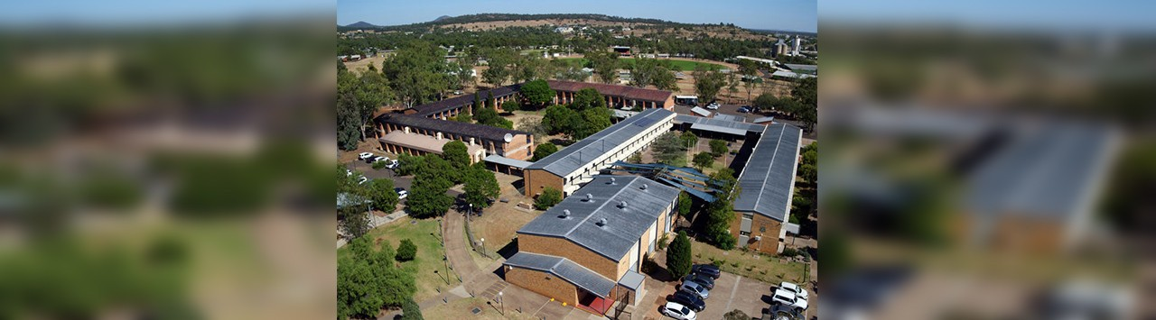 A birds eye view of the school grounds